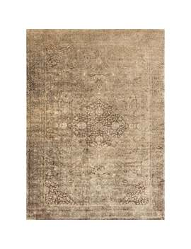 Traditional Distressed Gold/ Brown Floral Filigree Rug   12' X 15' by Alexander Home