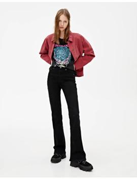 Jeans évasé Noir by Pull & Bear