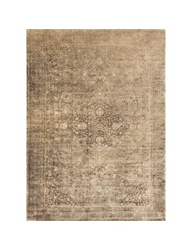 "Traditional Distressed Gold/ Brown Floral Filigree Rug   7'6"" X 10'5"" by Alexander Home"