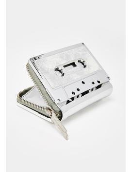 Duster Silver Retro Cassette Wallet by Fydelity