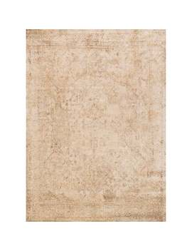 "Traditional Ivory/ Light Gold Distressed Rug   7'10"" X 10'10"" by Alexander Home"