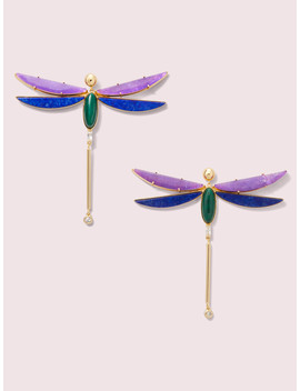 Future Heirloom Stone Dragonfly Earrings by Kate Spade