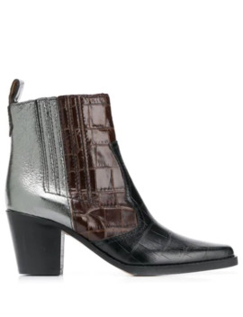 Contrast Ankle Boots by Ganni