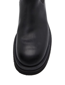 Leather Chelsea Boots by Bottega Veneta