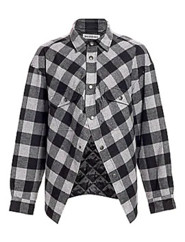 Swing Canadian Plaid Shirt by Balenciaga