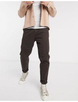 Asos Design   Pantalon Chino Décontracté Style Skateur   Marron by Asos Design
