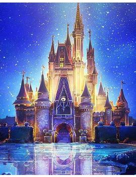 "Diamond Painting ""Disney Castle Nightscape"" Abstract Picture Full Square/Round Drill 5 D Diy Diamond Embroidery Painting Kits Birthday Gift by Etsy"