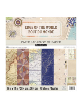 """Edge Of The World Paper Pad, 12"""" X 12"""" By Recollections™ by Recollections"""