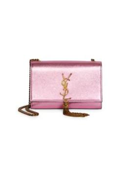 Small Kate Tassel Metallic Leather Shoulder Bag by Saint Laurent