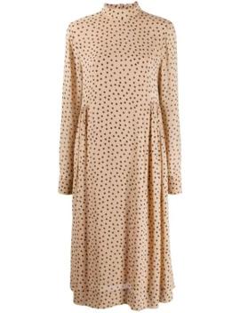 Gepunktetes Kleid Mit Stehkragen by Ganni