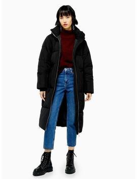 Longline Padded Jacket   Black by Topshop