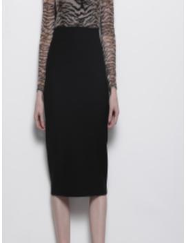Women Black Self Design Formal Straight Skirt by Dorothy Perkins