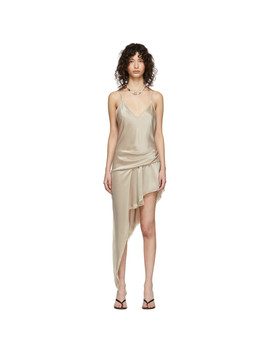Beige Cami Lace Romper Style Dress by Alexander Wang