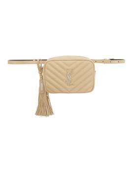Beige Lou Belt Bag by Saint Laurent