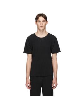 Black Basics T Shirt by Homme PlissÉ Issey Miyake