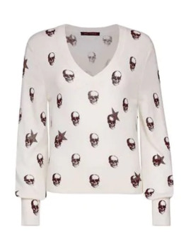 Jamie Skull Cashmere Sweater by 360 Cashmere