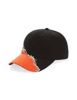 Barbwire Embroidered Baseball Cap by Heron Preston