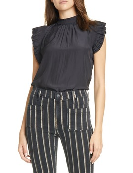 Pleated Ruffle Top by Frame