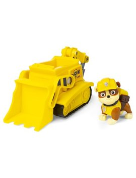 Paw Patrol, Rubble's Bulldozer Vehicle With Collectible Figure, For Kids Aged 3 And Up by Paw Patrol