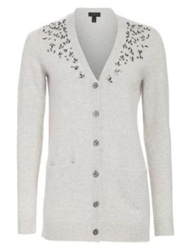 Collection Embellished V Neck Cashmere Cardigan by Saks Fifth Avenue
