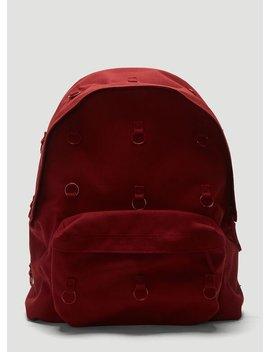 Padded Loop Backpack In Red by Eastpak By Raf Simons