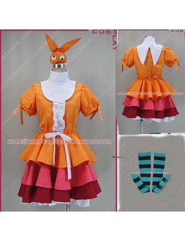 Tsuki Monogatari Ononoki Yotsugi Fluffy Dress Cosplay Costume With Headwear by Ali Express.Com