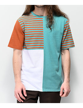 Empyre Skeeter Blocked & Striped Knit T Shirt by Empyre