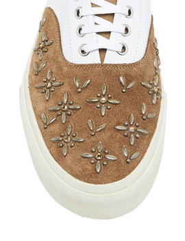 Studded Suede & Leather Sneakers by Amiri