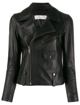 Cropped Leather Biker Jacket by Victoria Victoria Beckham