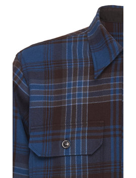 Plaid Wool Flannel Shirt by Camoshita