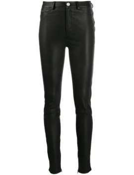 Leather Biker Trousers by Karl Lagerfeld