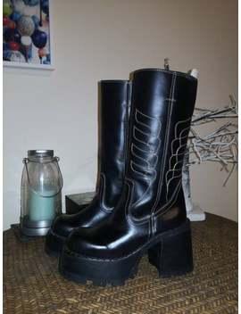90s Deadstock Vintage Platform Boots Destroy 2000 by Etsy