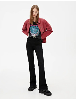 Black Flared Jeans by Pull & Bear