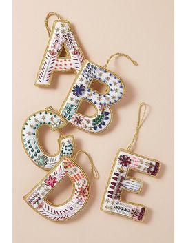 Zardozi Monogram Decoration by Triangle Of Bears