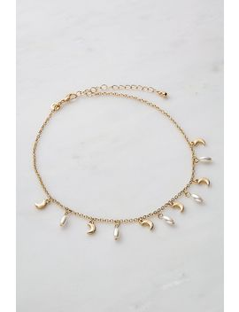 Collier Ras Du Cou Perles Et Lune by Urban Outfitters