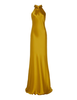 Sienna Silk Satin Gown by Galvan