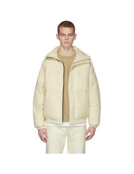 Off White Puffer Jacket by Essentials