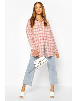 Extreme Oversized Check Shirt With Pockets by Boohoo