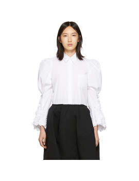 White Ruffled Sleeve Shirt by Comme Des GarÇons