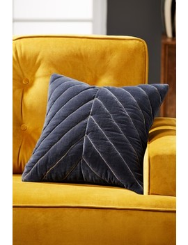 Quilted Chevron Velvet Cushion by Next