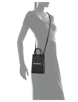Shopp Phone/Crossbody Bag by Balenciaga