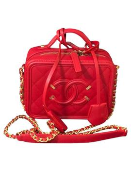 Chanel Vanity Case Grained True Red Calfskin Leather Cross Body Bag by Chanel