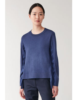 Merino Mulberry Silk Panel Top by Cos