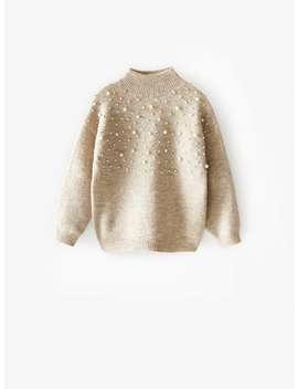 Sweater Perkins Com PÉrolas by Zara