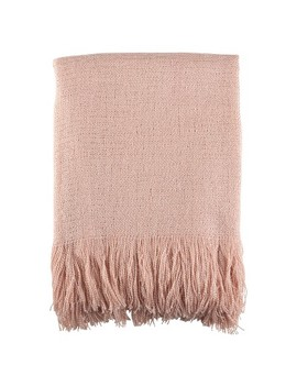 "Pink Fringe Hem Throw Blankets (50""X60"")   Saro Lifestyle by Shop This Collection"