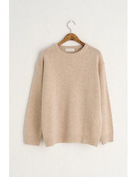 Hena Crew Neck Jumper, Oatmeal by Olive