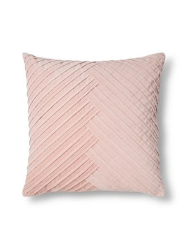 Blush Pleated Velvet Throw Pillow   Fieldcrest® by Fieldcrest