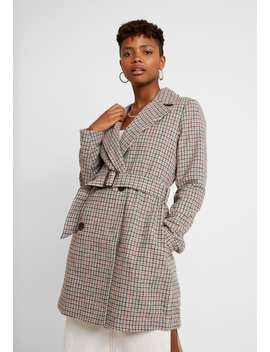 Belted Check Coat   Manteau Court by Missguided