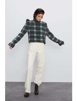 Plaid Wool And Mohair Sweater by Zara