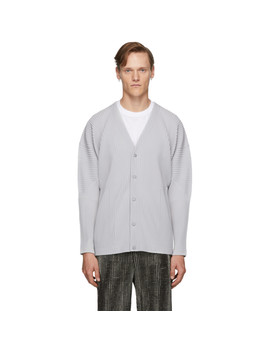 Grey Basics Cardigan by Homme PlissÉ Issey Miyake